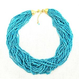 Kenneth Jay Lane 25 Strand Seed Bead Necklace